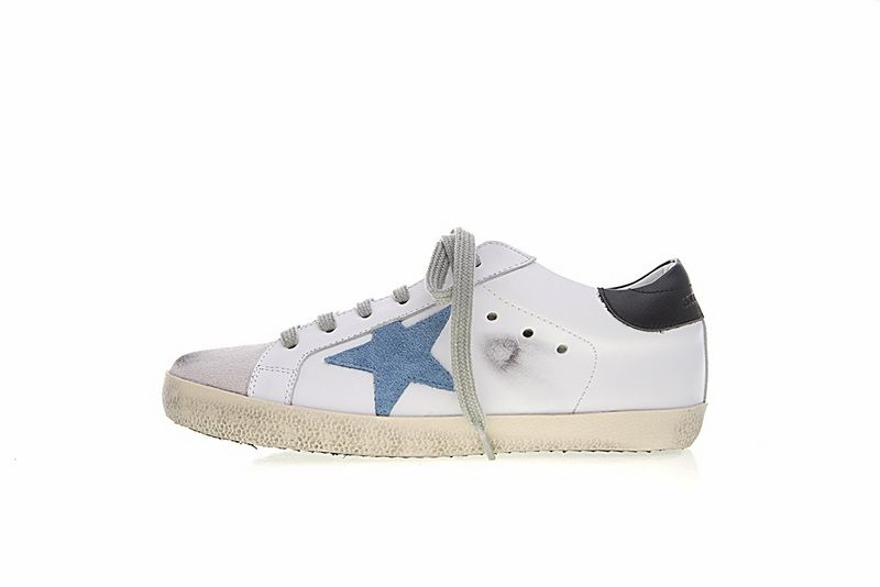 89d0c24a5ea4 Golden Goose Deluxe Brand Womens Superstar Low Top Blue Star Sneakers  G32WS590E79