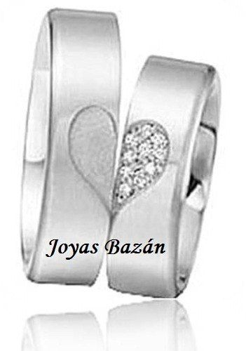 Argollas de matrimonio plata 950