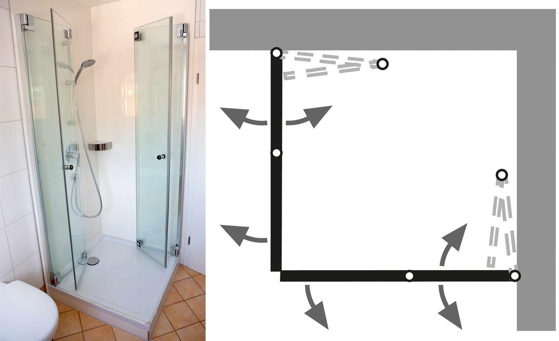 Duschkabine Falttur Vorteile Beispiele Auf Einen Blick