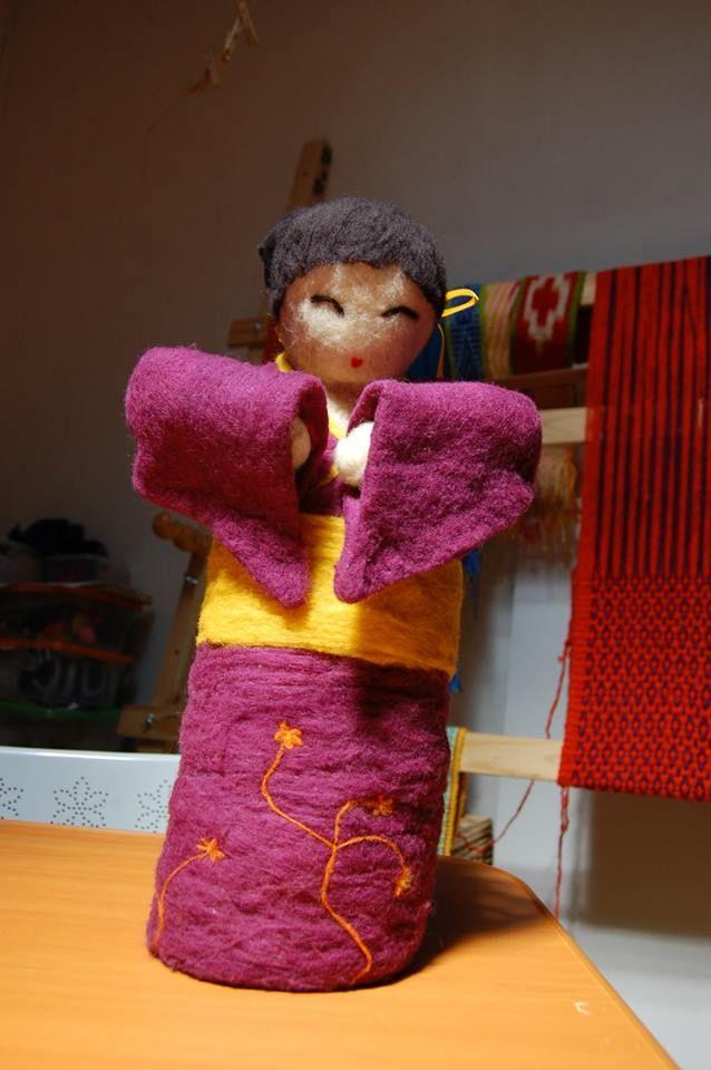 Geisha en fieltro