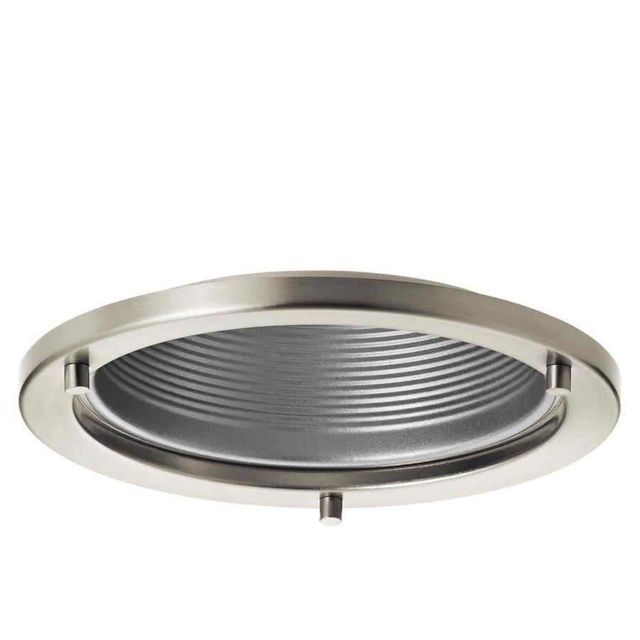Kichler marita brushed nickel and silver baffle recessed light trim kichler marita brushed nickel and silver baffle recessed light trim fits housing diameter 6 mozeypictures Gallery