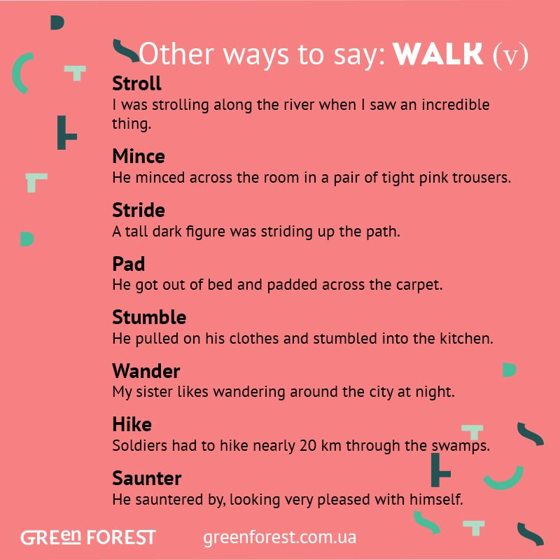 Synonyms to the word WALK. Other ways to say WALK. Синонимы к английскому слову WALK.
