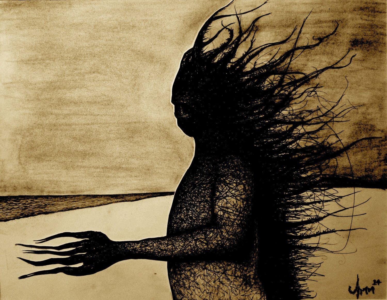 Creepy Art, Dark Art, Monster Art, Dark Art Print, Wall Art, Cthulhu ...