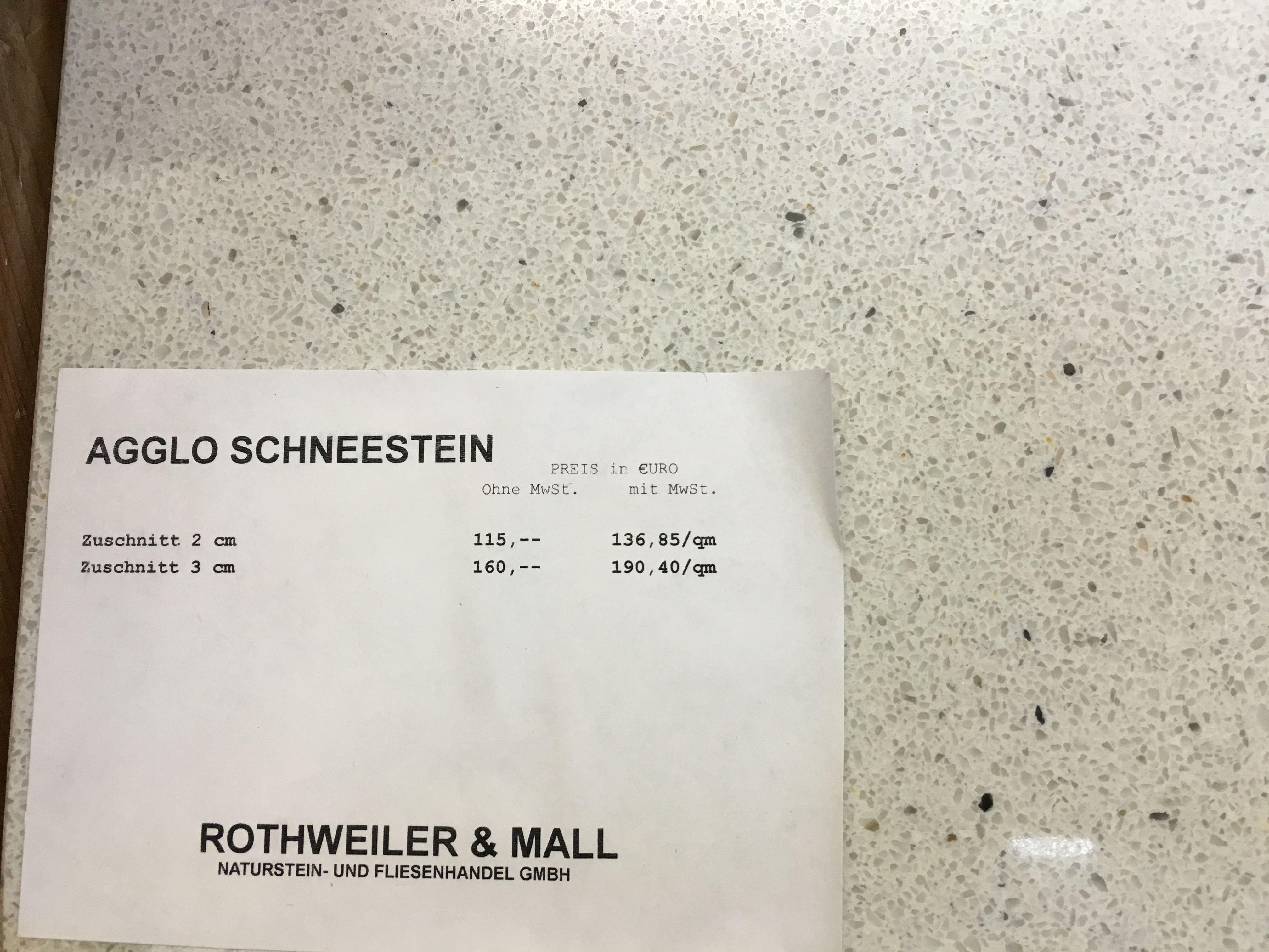 Kunststein Arbeitsplatte White Iceberg, Agglo Marmor | Kitchens ...