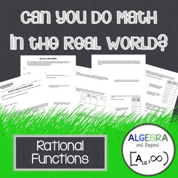 Rational Functions Real World Applications Rational Function