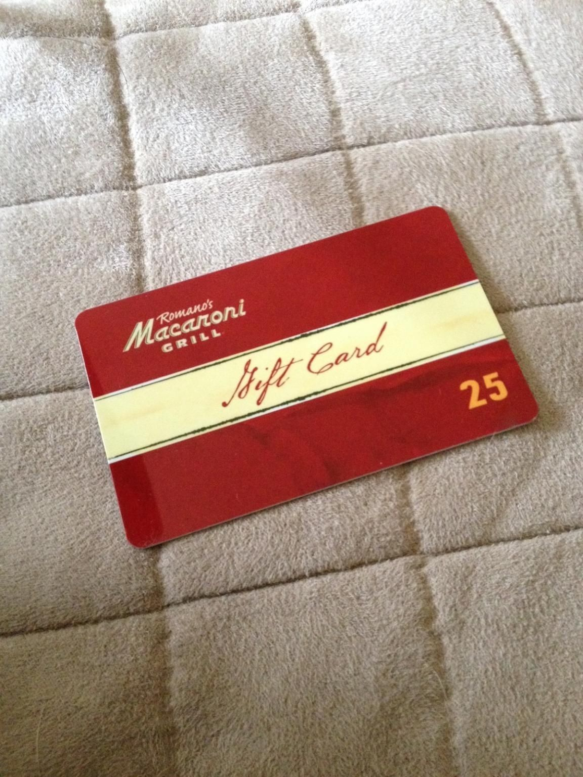 Coupons giftcards 25 macaroni grill chilis on the