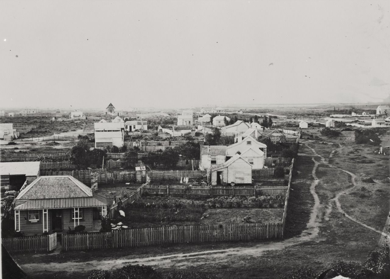 View of Gisborne, New Zealand, by William Fitzgerald Crawford, 1874