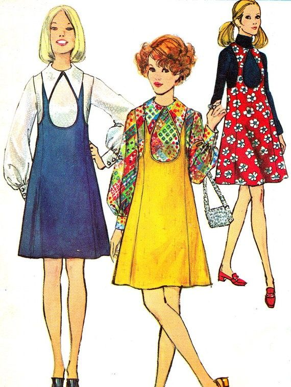 Dress Patterns From The 1960s 1960s Dress Pattern Simplicity 8655 Mod Pinafore 6 Simplicity Patterns Dresses Vintage Clothes Patterns Vintage Fashion 1960s