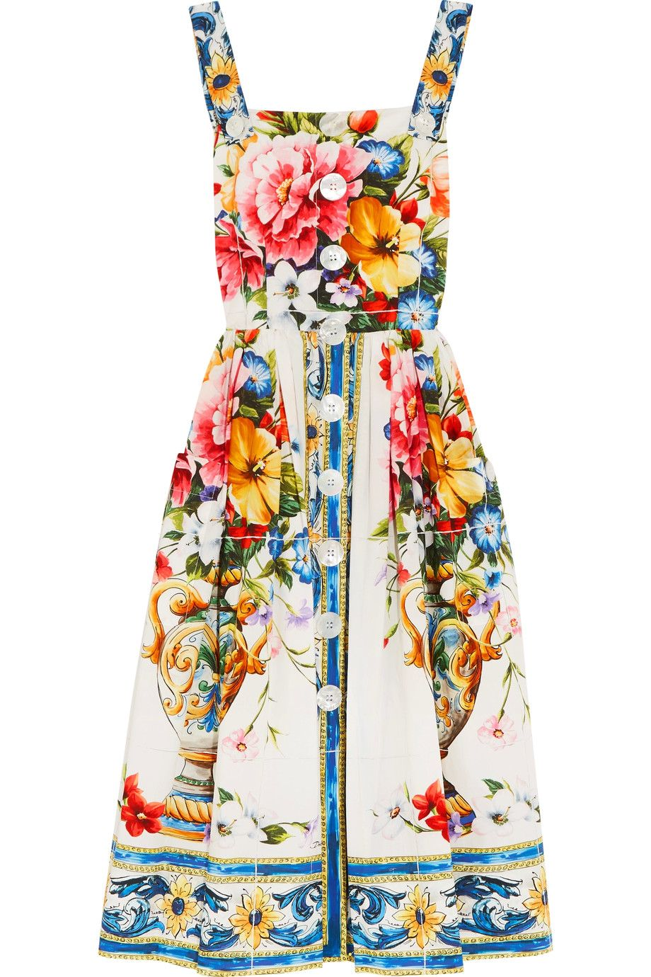a4dca0a5 Dolce & Gabbana - Floral-print cotton-poplin dress | Fashion Lust ...