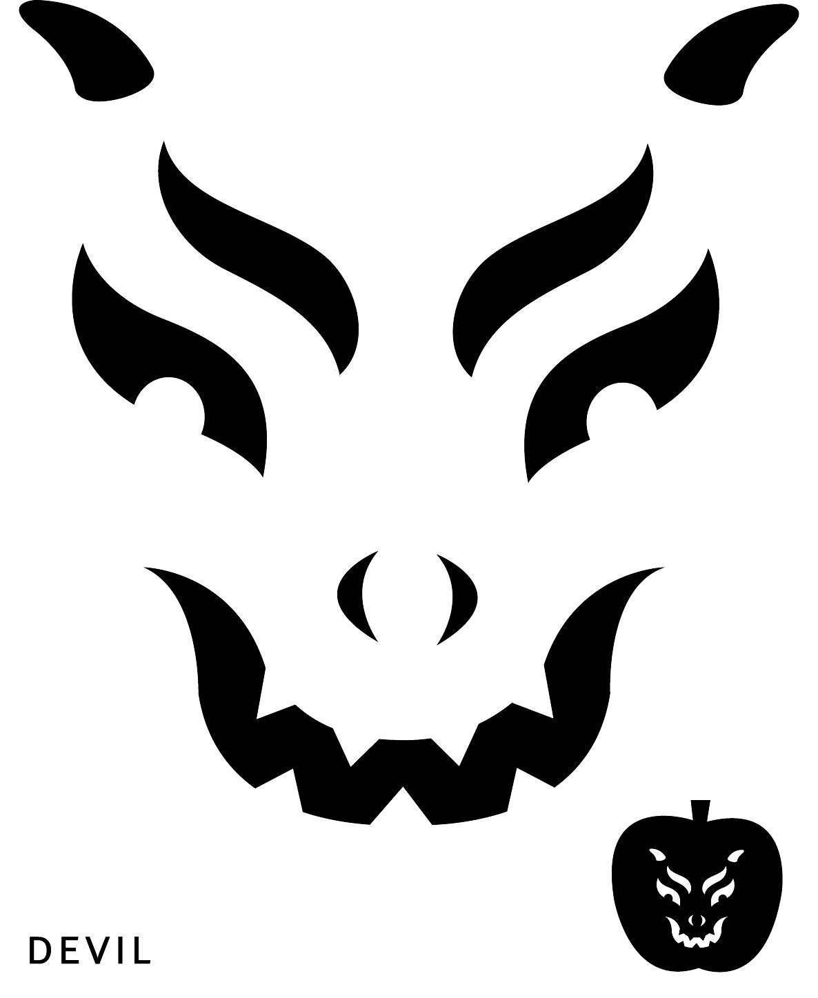 Good Looking Pumpkin Face Templates For Free Scary Pumpkin