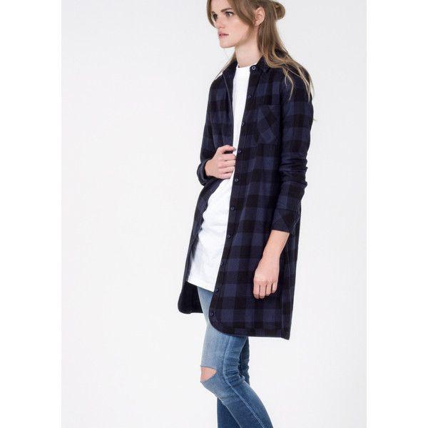 Alternative Apparel Navigator Dress ($55) ❤ liked on Polyvore featuring dresses, long flannel dress, alternative dresses, double layer dress, long dresses and flannel dress