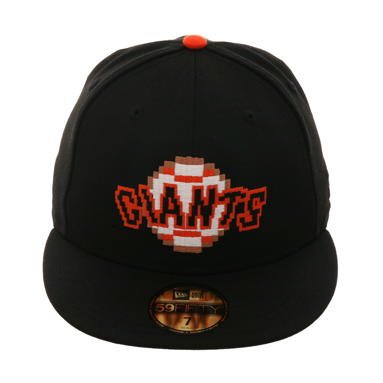 New Era 59fifty San Francisco Giants Pixel Hat Black New Era 59fifty New Era Hats
