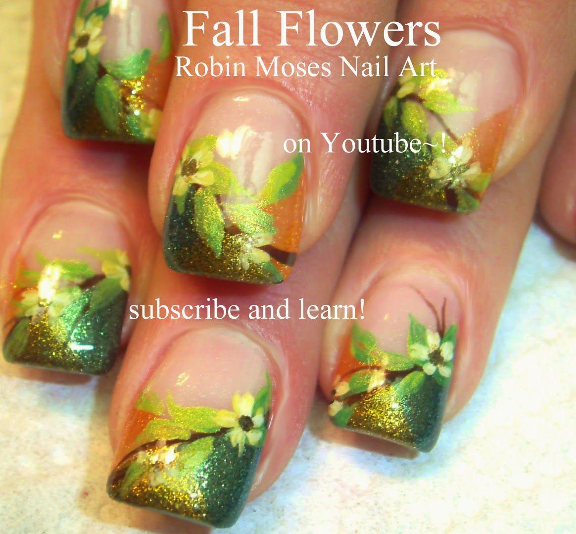 Robin Moses Nail Art Designs - Fall Leaf Nail Art – iCareNails.com ...