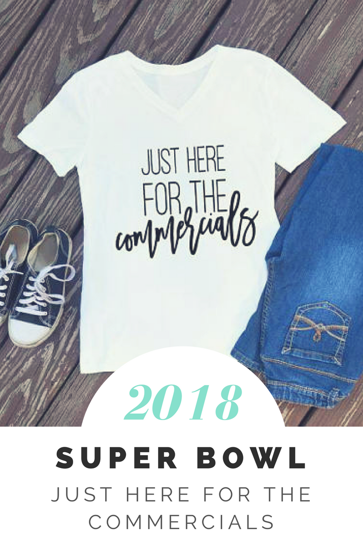 f9da9f22 Just here for the commercials | Super Bowl shirt | Superbowl party | funny  game shirt | football shirt | super bowl shirts | super bowl 2018 #superbowl  ...