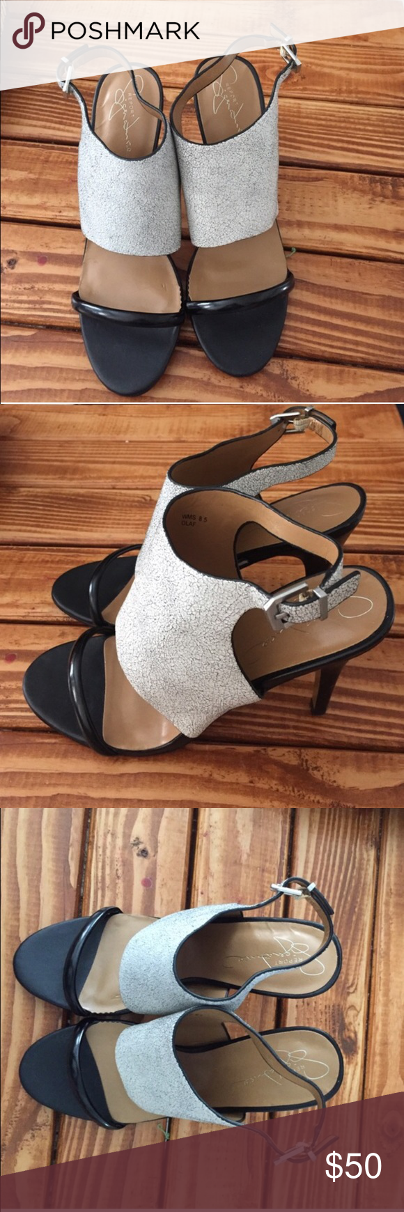 Open toe heel Open toe heel with grey strap. Sling back Jessica Simpson Shoes Heels