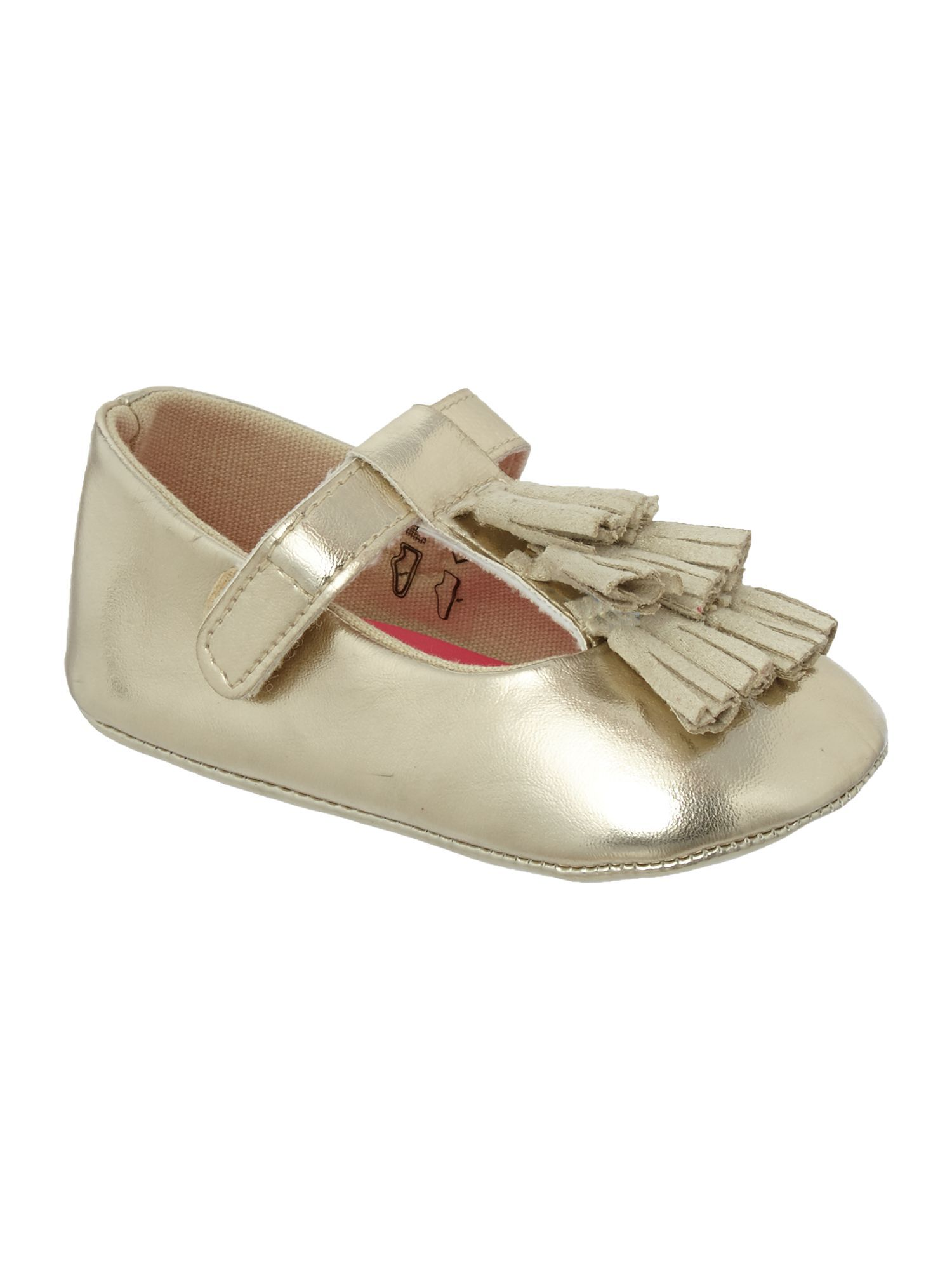 Billieblush Baby girls shoes with tassles Metallic