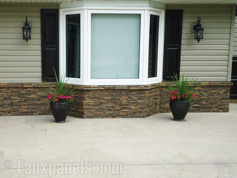 exterior homes with river rock accents | stacked stone ...