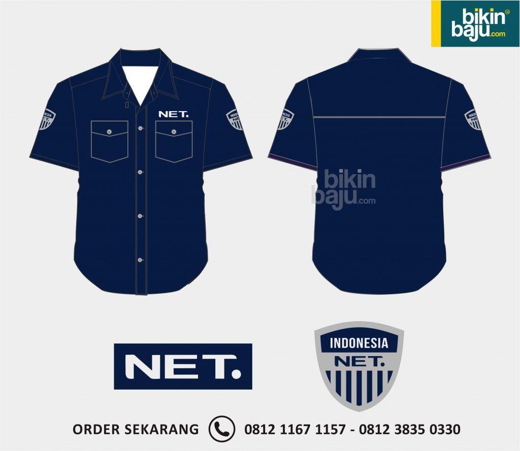 Contoh design t shirt family day - Contoh Desain Baju Kerja Seragam Net Tv Bahan Seragam Net Tv Desain Seragam