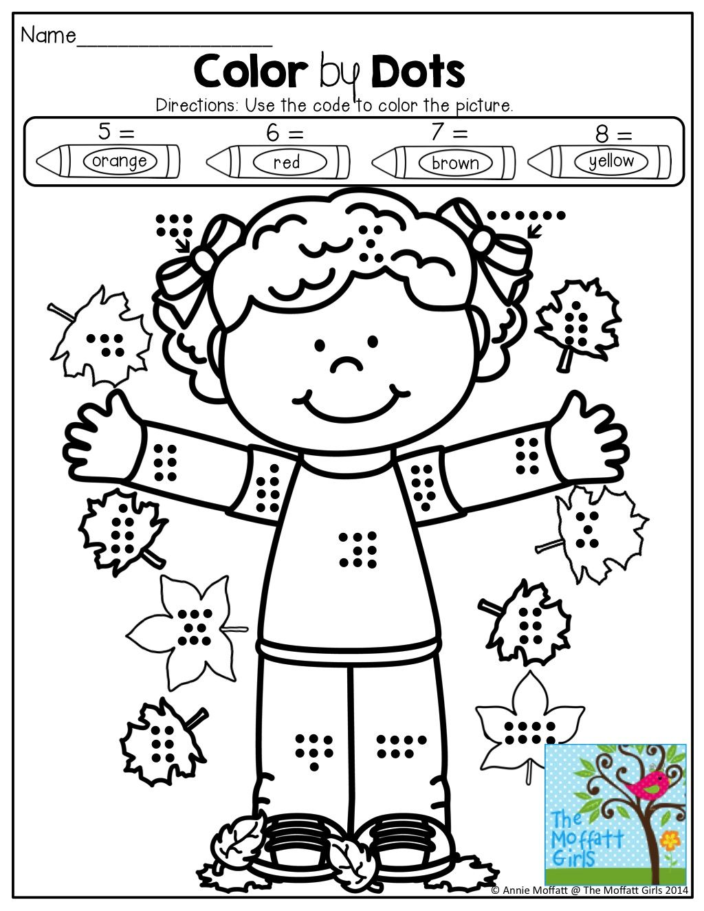 Color By Dots Count The Dots Use The Color Code To Color The Picture Tons Of Great Printables