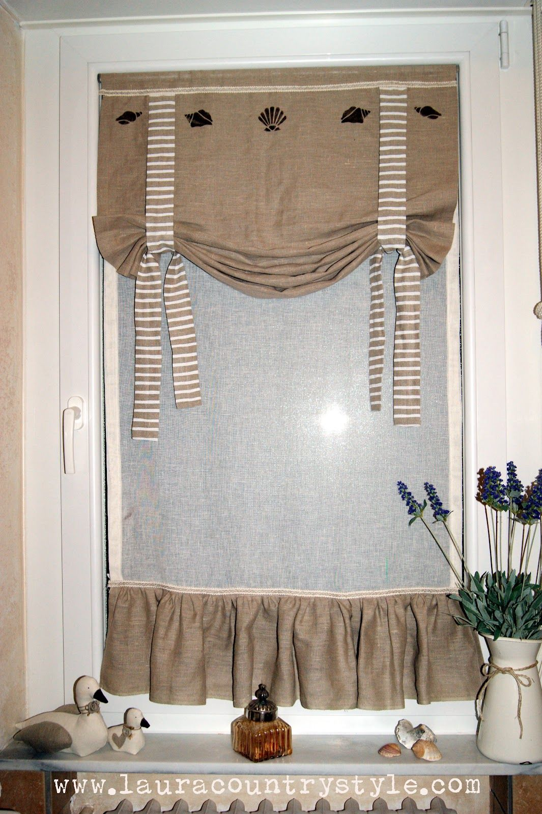 tende da bagno - Cerca con Google  Tende  Pinterest  Curtain ideas, Window and Valance