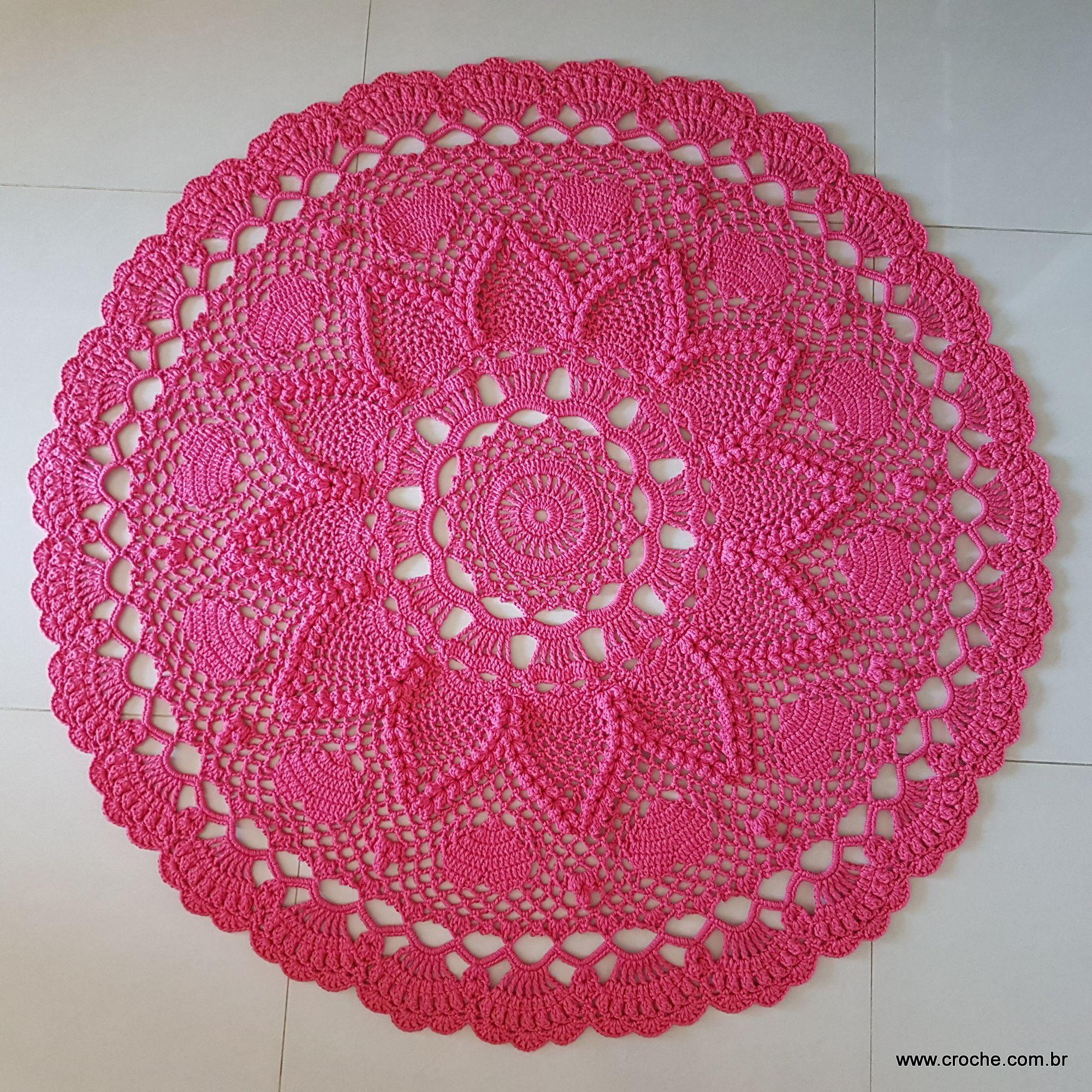 Tapete paix o passo a passo crochet crochet doilies for Tapetes de crochet