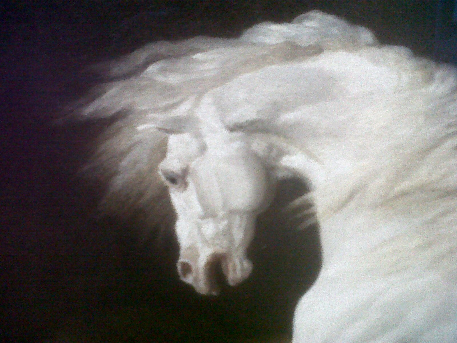 George Stubbs, Scared horse - a small portion of the painting: The ...