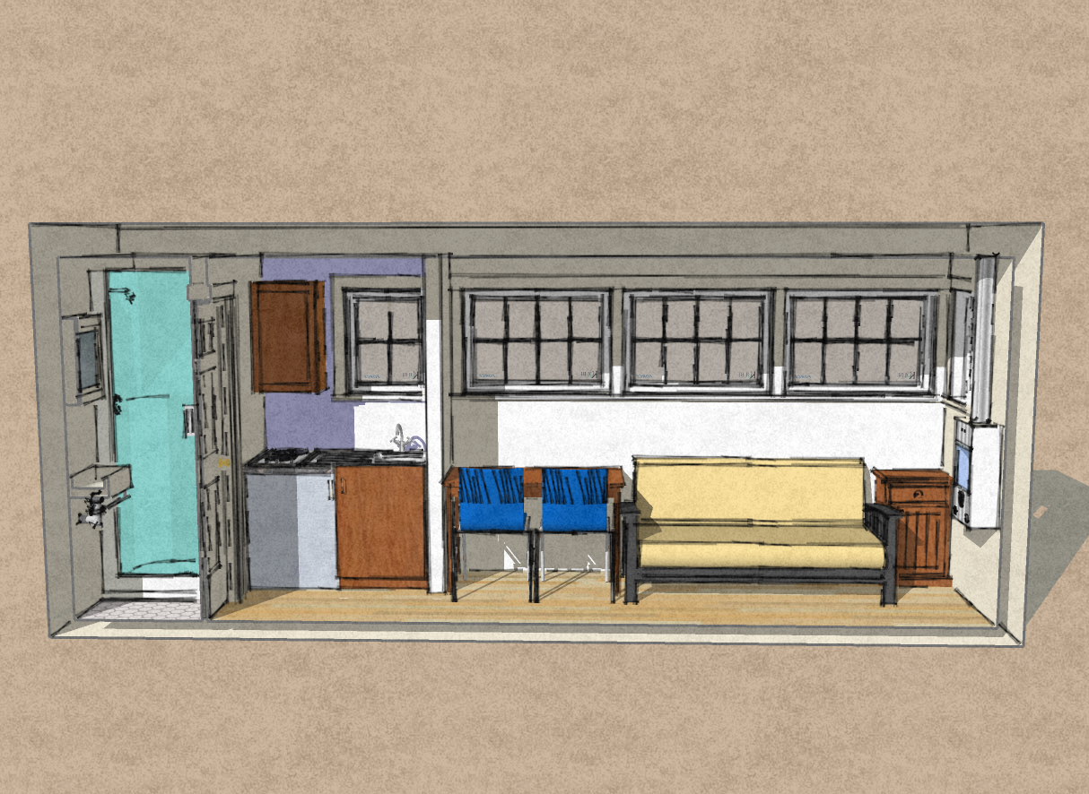 Small Scale Homes New 8 X 20 Shipping Container Home
