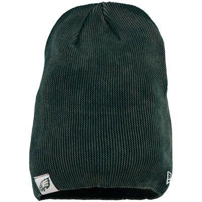 b5a6bec6dc7908 Women's Philadelphia Eagles New Era Midnight Green Slouch Pick Knit Beanie