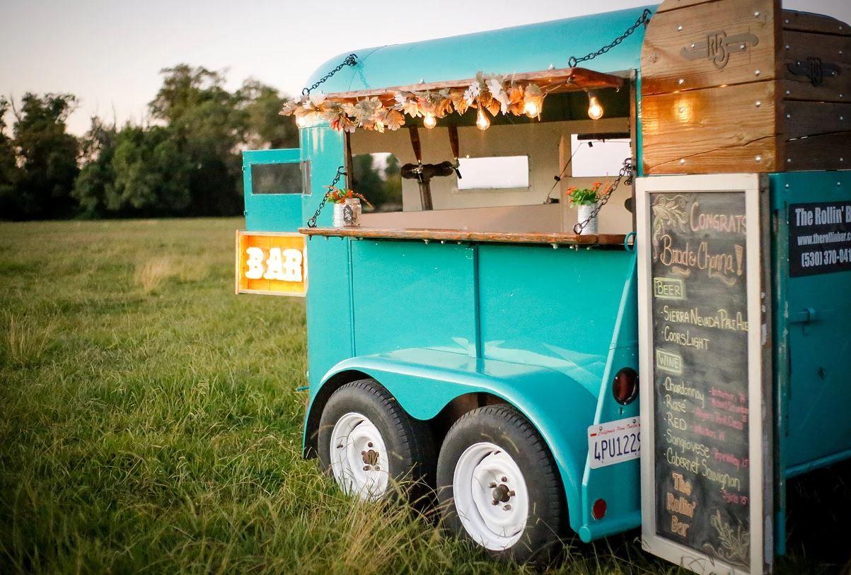 Horse Trailer Bar, mobile bar, The Rollin' Bar in Northern