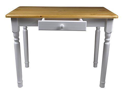 esstisch mit schublade küchentisch tisch massiv kiefer 100 x 60 cm