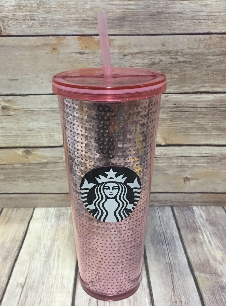 7390c919681 Details about NEW Starbucks Silver Sequin Venti Cold Cup 24 Oz ...