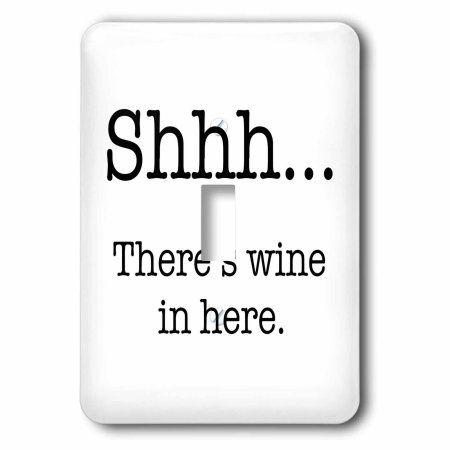 3dRose Saying about wine, Single Toggle Switch