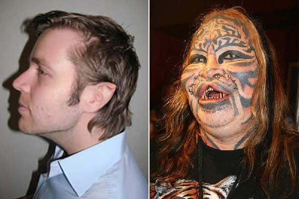 Stalking Cat Man Before And After