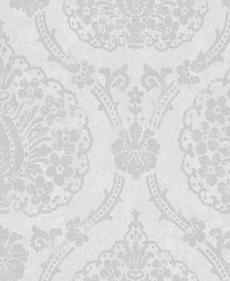 Vlies Tapete Marburg Scandinavian Vintage 51656 Barock grau - wohnzimmer tapeten braun beige