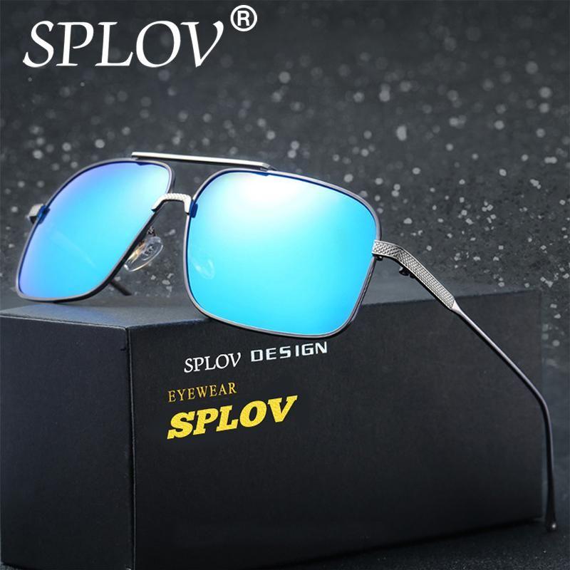 7a5b95ab939 SPLOV Goggle Polarized Sunglasses Women Classic Men Retro Brand Designer  driving Shades Sun glasses UV400 Fashion