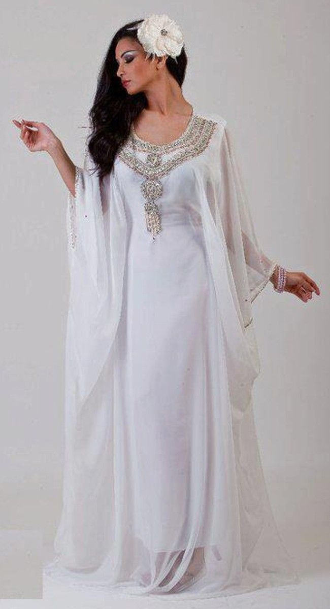 33e18f2b32 Long White Kaftan Dress