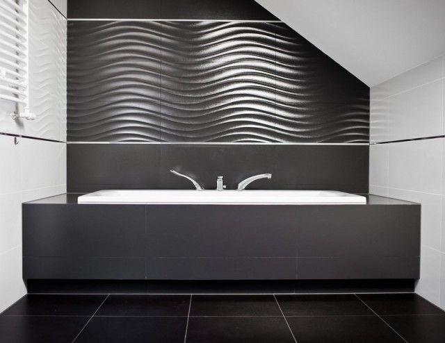 Salle de bain noir et blanc ou en tons contrastés en 40 idées