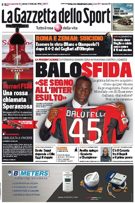 La Gazzetta dello Sport (020213) (With images) Sports