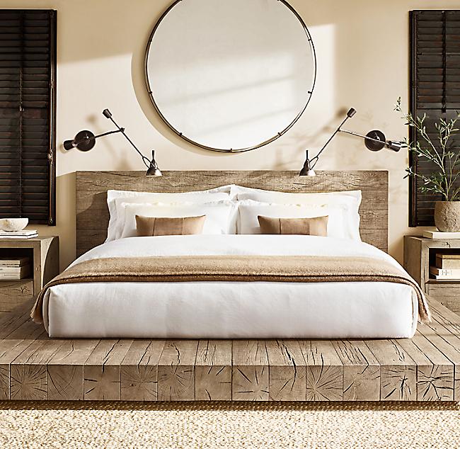 Aspen French Oak Platform Bed V Roce 2020 Ložnice
