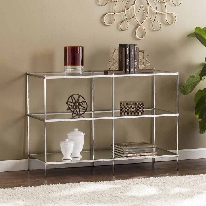 Janelle Console Table Mirrored Console Table Contemporary Console Table Console Table