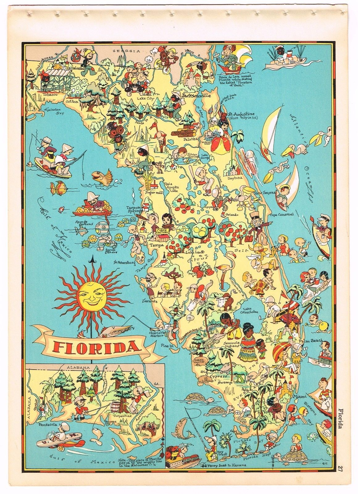 Details about RUTH TAYLOR VINTAGE NEW JERSEY MAP CARTOON ... on florida bmx tracks map, florida watercolor map, naples fort myers florida map, florida sightseeing map, florida art map, florida turnpike map with mile markers, florida theater map, florida local map, florida nfl map, florida field map, florida museums map, florida fish map, florida orienteering map, florida gulf map, florida destinations map, florida motocross track map, florida gas prices map, florida places of interest map, florida tequesta map, florida craft beer map,
