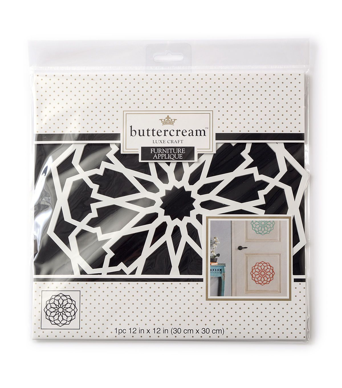 Buttercream™ Olivia Collection Large Furniture Applique-Moroccan Medallion