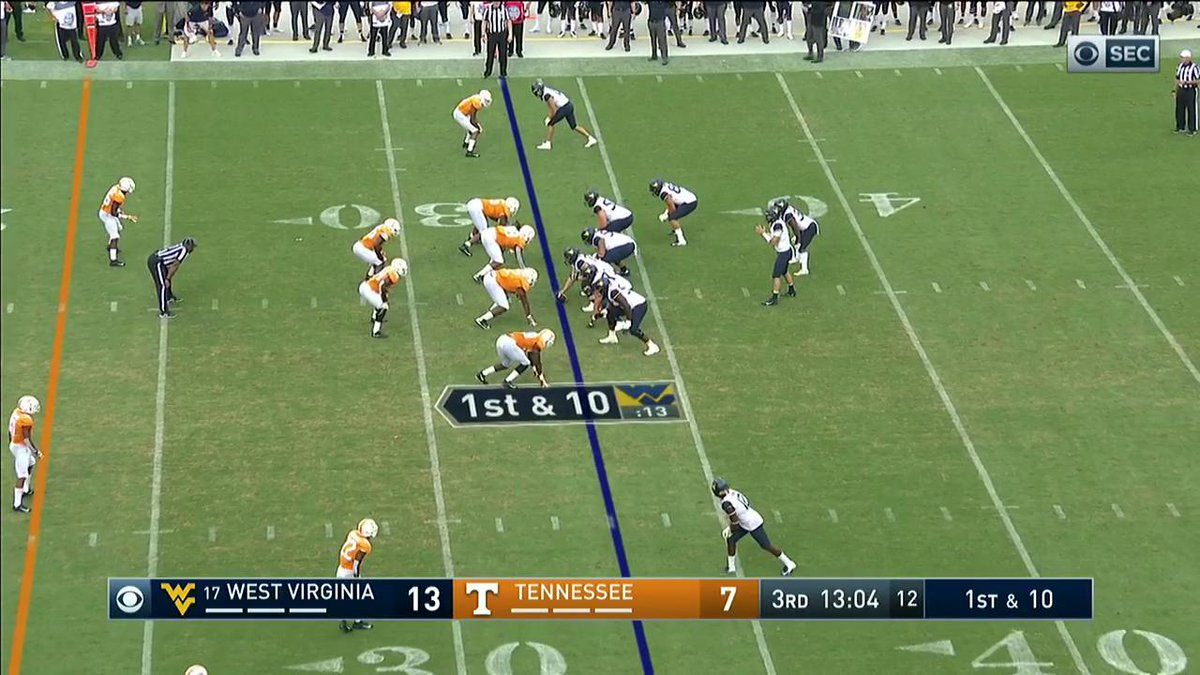 """CBS Sports on Twitter """"Great toss from Will Grier. Great"""