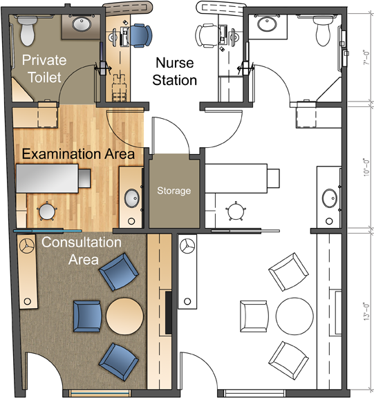 Multi Room Exam Suite Floor Plan Designed By Jain Malkin