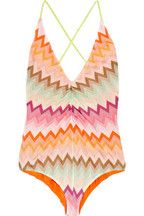 Bristol zigzag crochet-knit swimsuit $575