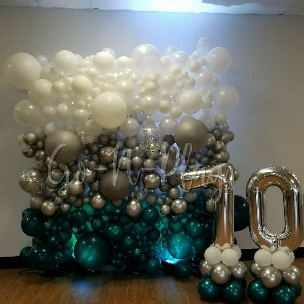 Organic Balloon Wall Decor | 21st birthday balloons ...