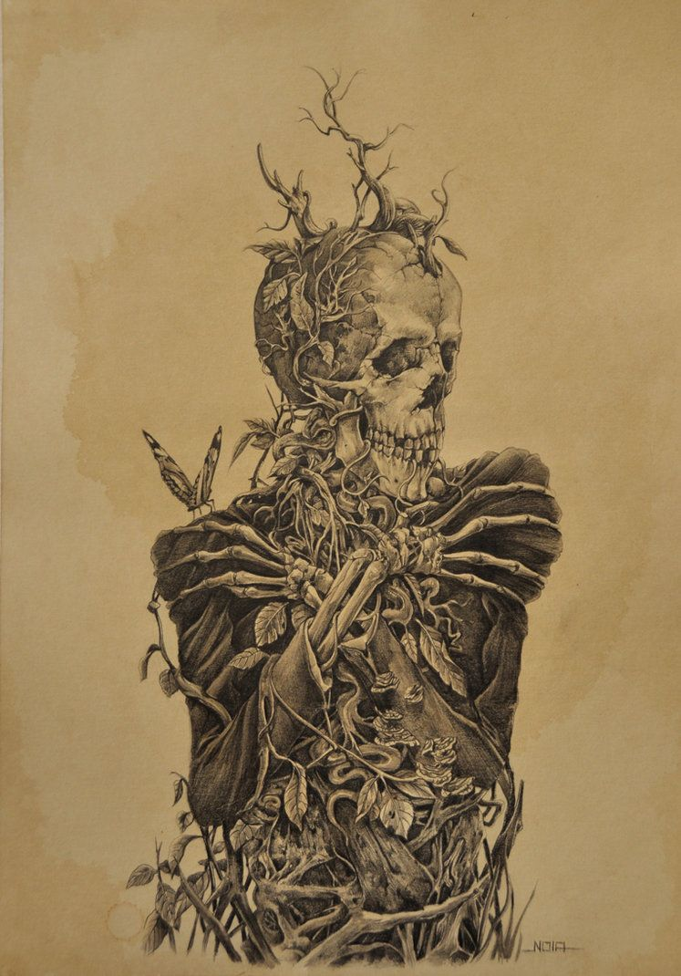 Tattoos for men death possession   by noiaillustration on deviantart cool tat