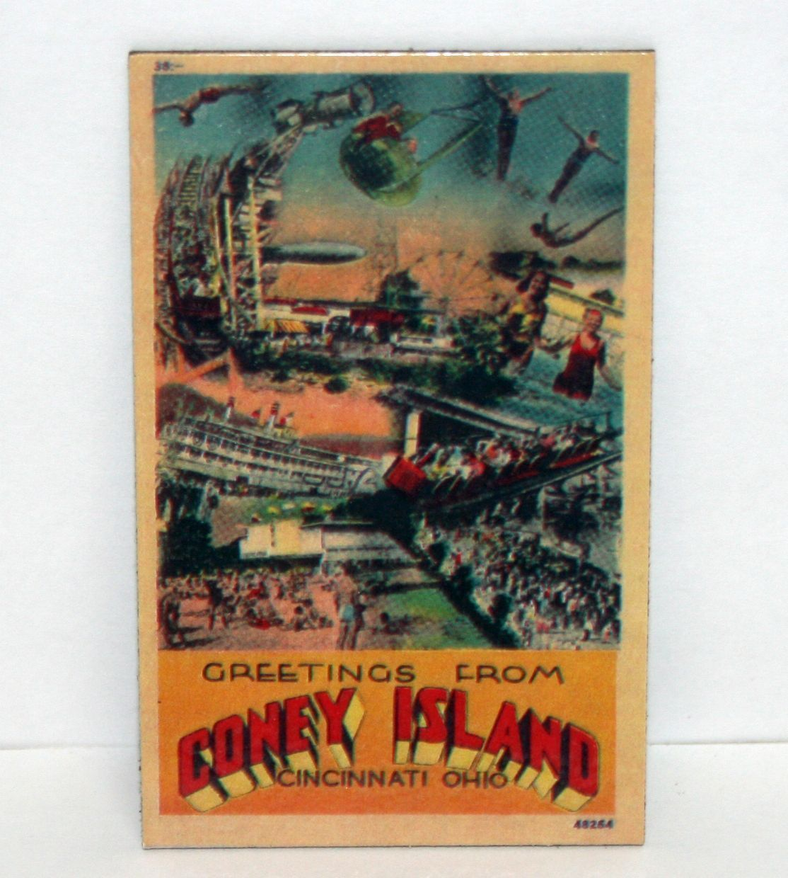 Details about greetings from coney island cincinnati ohio details about greetings from coney island cincinnati ohio refrigerator magnet advertising ad m4hsunfo