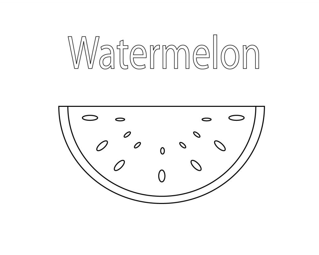 Watermelon Coloring Pages To Print Watermelon Coloring