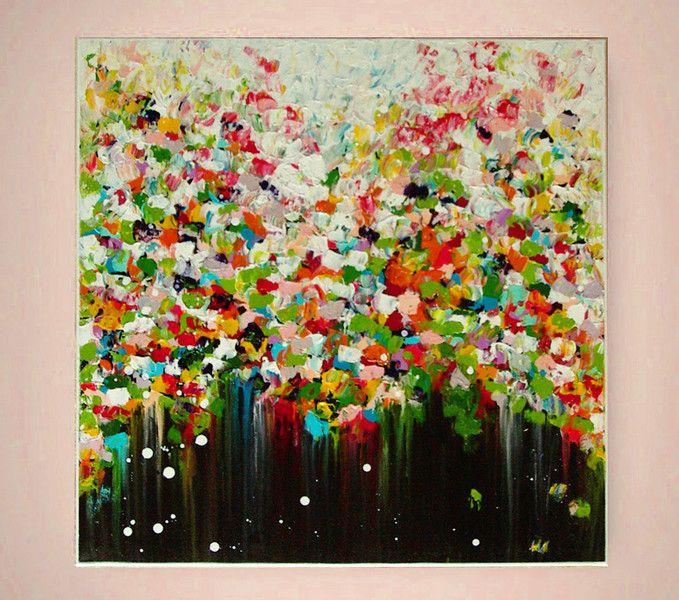 Blutenregen Abstrakte Blumen Malerei Von Atelier Mila Schoneberg